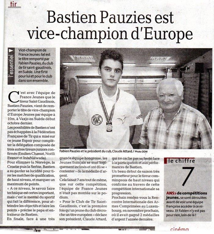 ArticleDepecheBastienTitreEuropeen2015